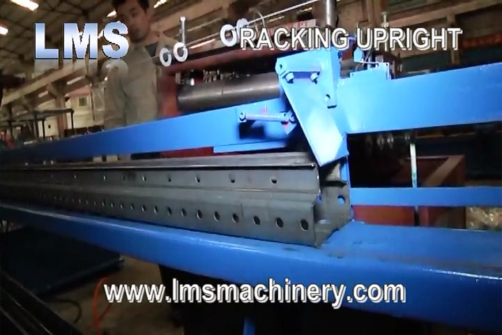 LMS RACKING UPRIGHT ROLL FORMING MACHINE - MOTORIZED WIDTH ADJUSTABLE