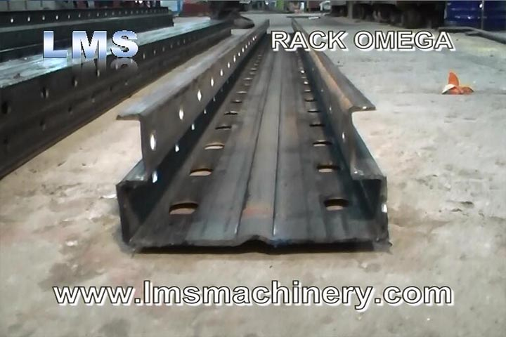 LMS Selective Rack Omega Section Roll Forming Machine - Single Size