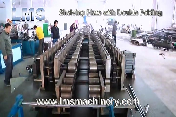 LMS SHELVING PLATE ROLL FORMING WITH DOUBLE FOLDING