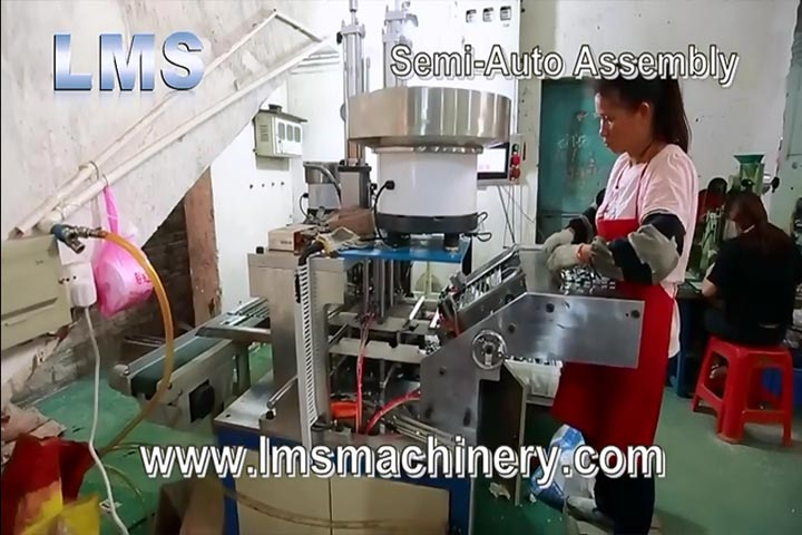 Lms Telescopic Channel Drawer Slide Semi Auto Assembly Line